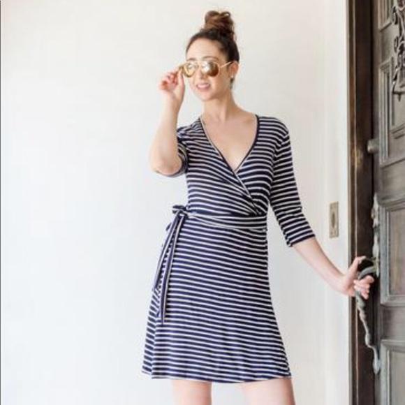 a4d904b7b7a Udderly Hot Mama Dresses | Whimsical Wrap Nursing Dress In Nautical ...